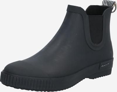 GANT Gumene čizme 'Mandyy' u crna / bijela, Pregled proizvoda