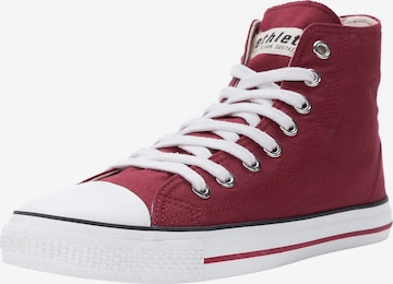Ethletic High-Top Sneakers 'Fair Trainer White Cap High Cut' in Red