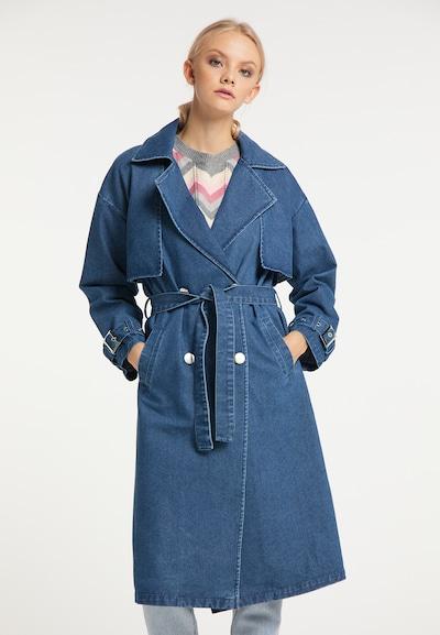 myMo NOW Tussenmantel in de kleur Blauw, Modelweergave