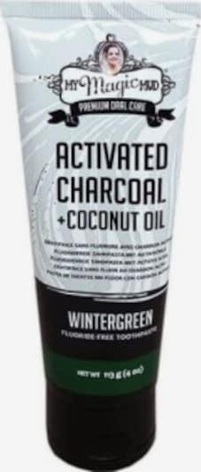 My Magic Mud Zahncreme  'Activated Charcoal Fluoride-Free Wintergreen' in weiß, Produktansicht