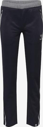 Hummel Sportbroek in de kleur Donkerblauw / Grijs, Productweergave