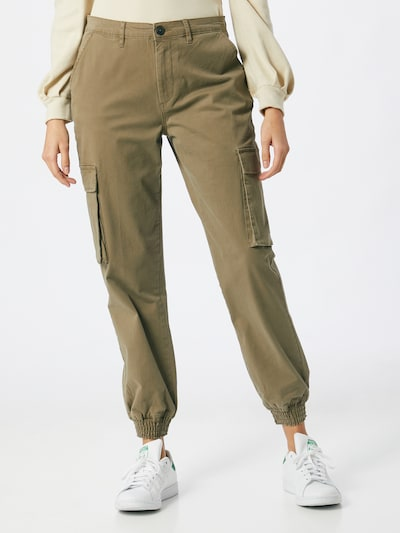 ONLY Klapptaskutega püksid khaki, Modellivaade