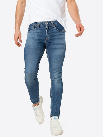 LEVI'S Jeans '519™ EXT SKINNY HI-BALL B' in de kleur Blauw denim, Modelweergave