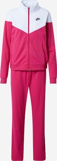 Nike Sportswear Survêtement en rose foncé / blanc, Vue avec produit