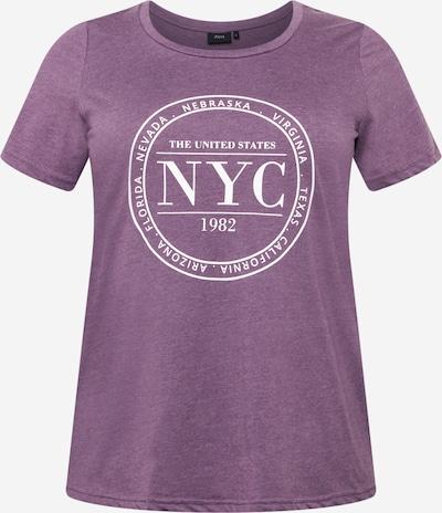 Zizzi T-Shirt 'EFRANJA' in lilameliert / weiß, Produktansicht