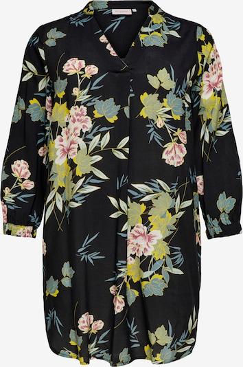 ONLY Carmakoma Kleid in beige / hellblau / gelb / rosé / schwarz, Produktansicht