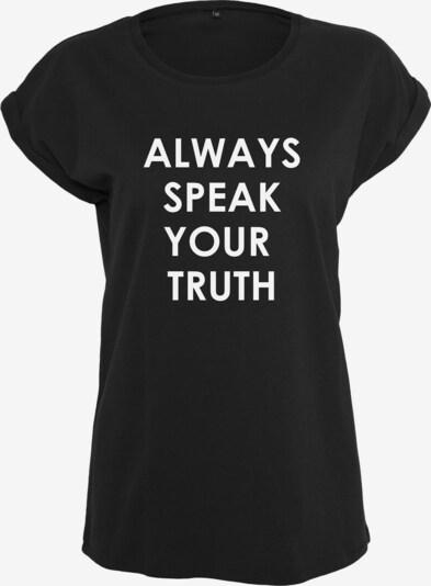 Merchcode Damen 'Ladies Speak Truth Tee' in schwarz, Produktansicht