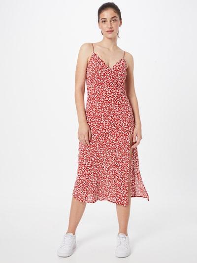 Parallel Lines Kleid in de kleur Rood / Wit, Modelweergave
