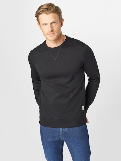 JACK & JONES Sportisks džemperis, krāsa - raibi pelēks / melns: Priekšējais skats