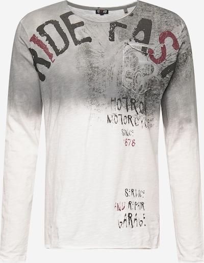 Key Largo Sweatshirt 'FURIOUS' in de kleur Grijs / Rood / Wit, Productweergave
