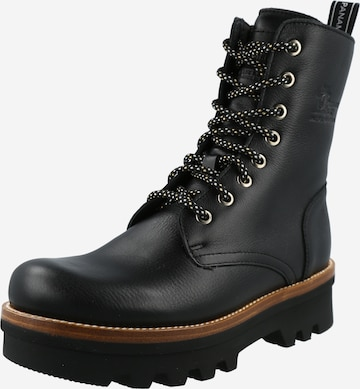 PANAMA JACK Lace-Up Ankle Boots 'Miren' in Black