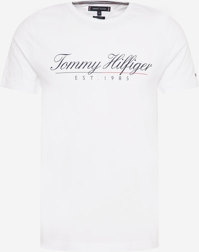 TOMMY HILFIGER Tričko - tmavomodrá / biela, Produkt