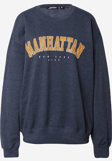 Missguided Sweatshirt 'MANHATTAN' i gylden gul / mørkegrå / hvid, Produktvisning