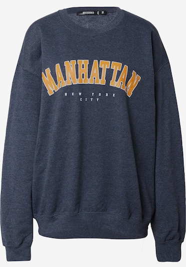 Missguided Sweatshirt 'MANHATTAN' i guldgul / mörkgrå / vit, Produktvy