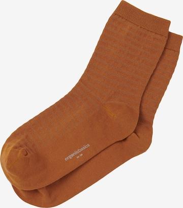 Organic Basics Socken ' Organic Cotton Gestreifte Socken 2-Pack ' in Braun