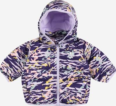 Žieminė striukė iš ADIDAS ORIGINALS , spalva - tamsiai violetinė / mišrios spalvos, Prekių apžvalga