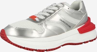 Sneaker low Calvin Klein Jeans pe argintiu / alb, Vizualizare produs