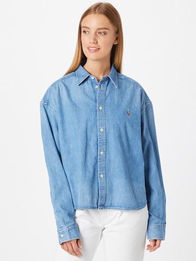 Polo Ralph Lauren Chemisier en bleu denim, Vue avec modèle