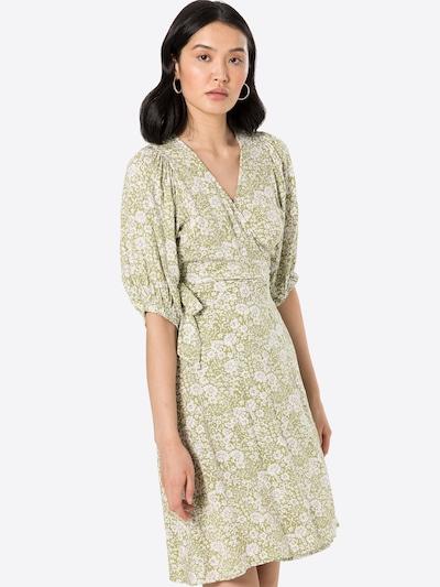 Gina Tricot Kleid 'Dita' in oliv / flieder / weiß, Modelansicht