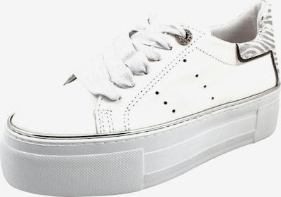 Alpe Schnürschuhe in silber / weiß, Produktansicht