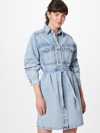 Gina Tricot Košeľové šaty - svetlomodrá, Model/-ka