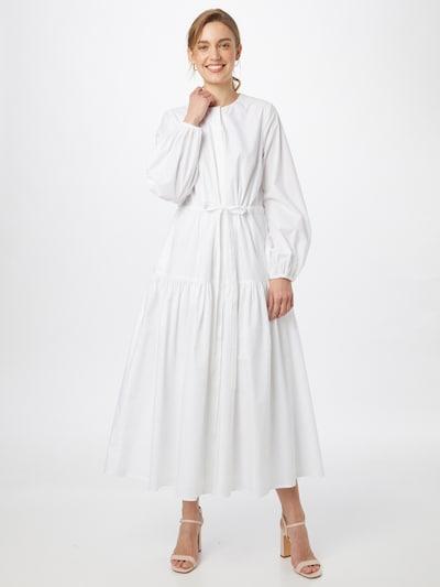 IVY & OAK Рокля тип риза в бяло: Изглед отпред