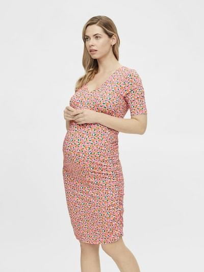 MAMALICIOUS Kleid 'Caro' in grün / orange / rosa / weiß, Modelansicht