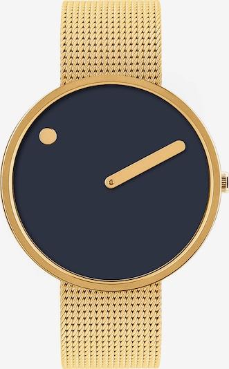 Picto Uhr in navy / gold, Produktansicht