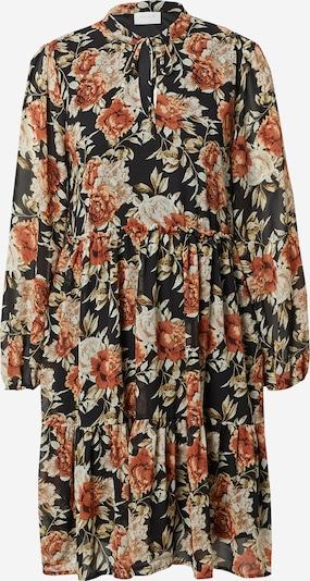 VILA Kleid 'URA' in rostbraun / schwarz / weiß: Frontalansicht