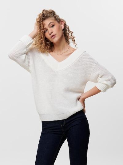 ONLY Džemperis 'Melton', krāsa - balts, Modeļa skats