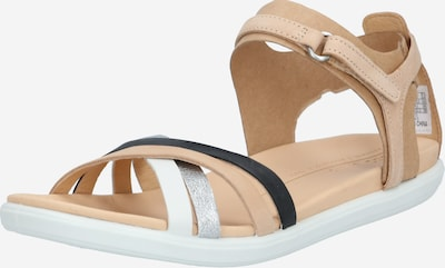 ECCO Sandały z rzemykami 'Simpil' w kolorze beżowy / czarny / srebrny / białym, Podgląd produktu