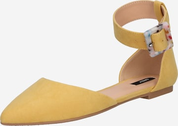ONLY Μπαλαρίνα με λουράκια 'ANAS  LIFE ' σε κίτρινο
