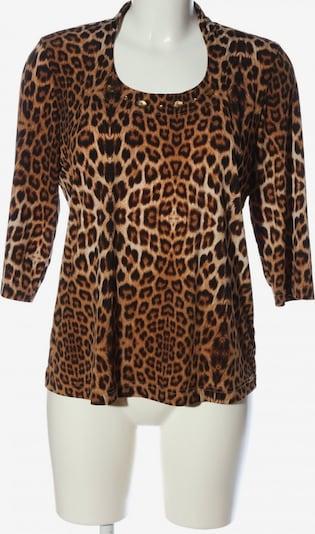COUNTRY LINE Langarm-Bluse in XL in creme / braun / schwarz, Produktansicht