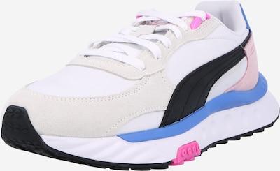 PUMA Niske tenisice u svijetlosiva / neonsko ljubičasta / roza / crna / bijela, Pregled proizvoda
