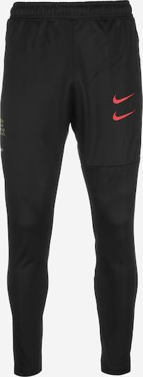 NIKE Sportbroek in de kleur Rood / Zwart: Vooraanzicht