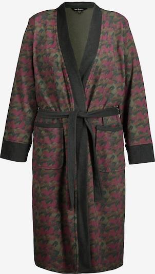 Ulla Popken Bademantel '795385' in grün / pink, Produktansicht