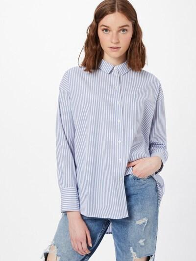 VERO MODA Bluse 'PALMER' in blau / weiß, Modelansicht