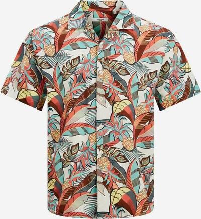JACK & JONES Hemd 'Blasummer' in aqua / pueblo / mischfarben / weiß, Produktansicht