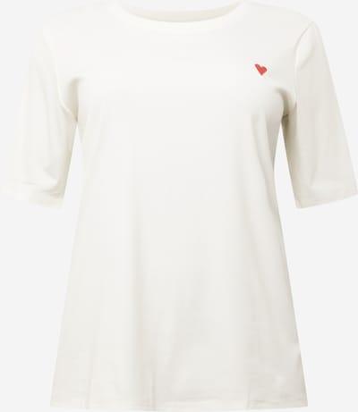 KAFFE CURVE Shirt 'Madi' in rot / weiß, Produktansicht