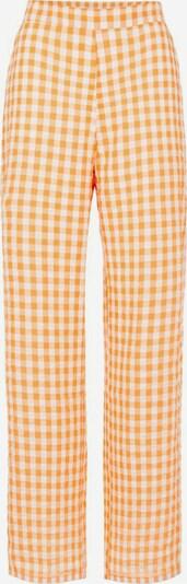 PIECES Hose in gelb / weiß, Produktansicht
