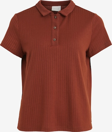 VILA Poloshirt 'Gita' in Brown