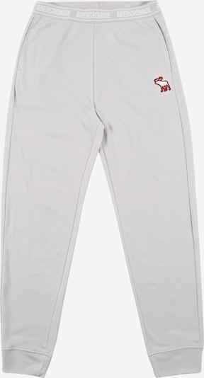Abercrombie & Fitch Bikses, krāsa - pelēks / sarkans / balts, Preces skats