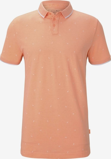 TOM TAILOR DENIM Poloshirt mit Allover-Print in orange, Produktansicht