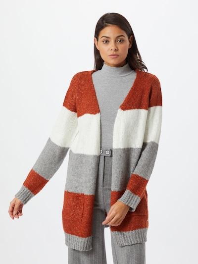 Hailys Strickjacke 'Ronia' in karamell / grau / weiß, Modelansicht