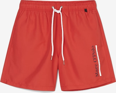 Marc O'Polo Badeshorts 'Solids ' in rot / weiß, Produktansicht