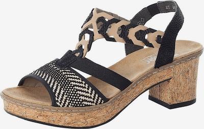 RIEKER Sandały w kolorze cielisty / czarnym, Podgląd produktu