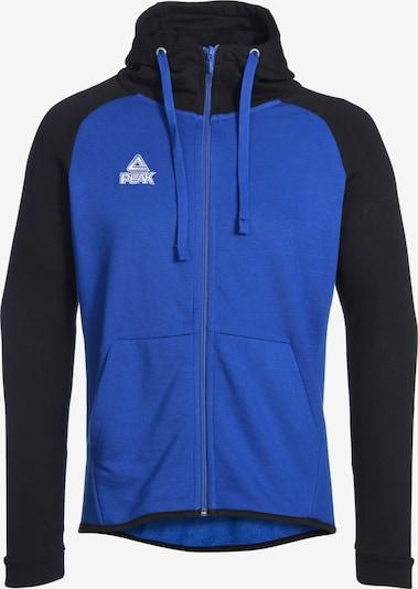 PEAK Sportsweatjacke in blau / schwarz, Produktansicht