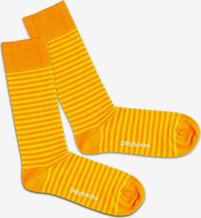 DillySocks Chaussettes 'Sun Ring' en jaune / orange, Vue avec produit