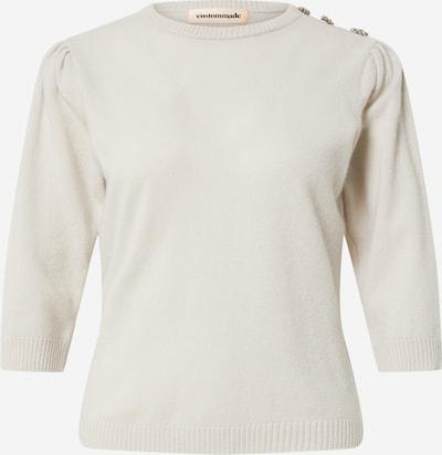 Custommade Pullover 'Tiro' in hellgrau, Produktansicht