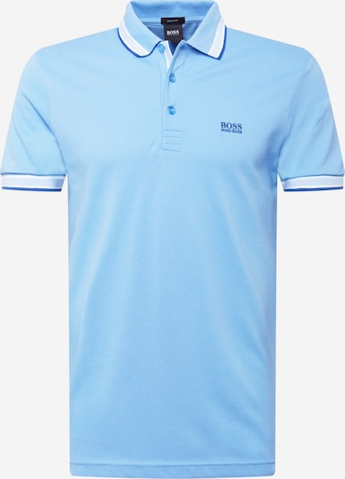 BOSS ATHLEISURE T-Krekls 'Paddy', krāsa - zils / tirkīza / balts, Preces skats